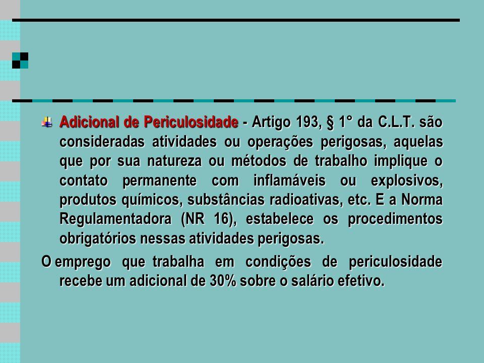 Adicional Noturno Artigo 73 da C.L.T.