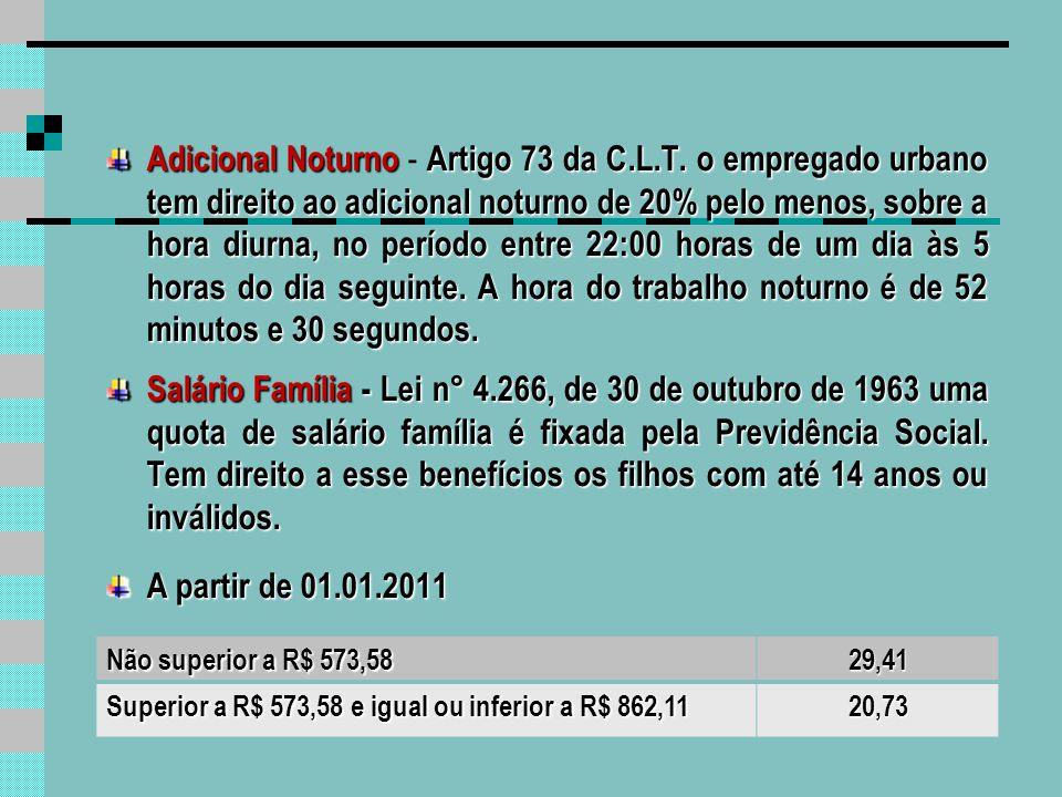 Descontos Contribuição Previdenciária - a contribuição de cada empregado filiado ao INSS, inclusive o doméstico e o avulso é de 8,00%, 9,00% e 11% de acordo com salário.