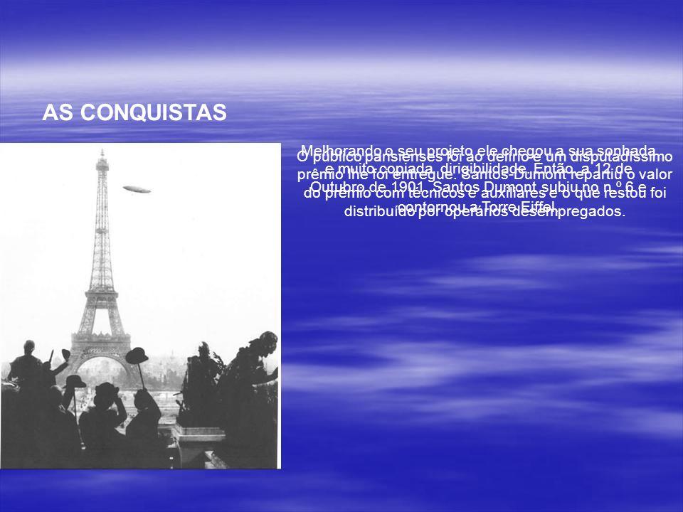 Em outro grave acidente o n.º 5 foi destruído. A seqüência de perigosos acidentes levava muita gente a aconselhar Santos Dumont a desistir. Mas ao est
