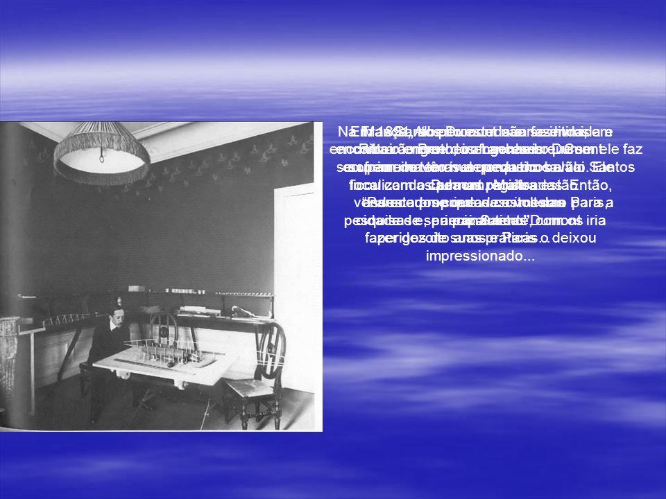 ALBERTO SANTOS DUMONT Ao freqüentar o Colégio, Santos Dumont passou a ler as obras de Júlio Verne, como Cinco Semanas em um Balão, onde o homem já voa