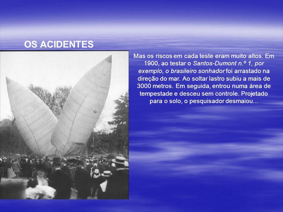 Diferentemente dos outros inventores, Santos Dumont nunca patenteou qualquer dos seus inventos.