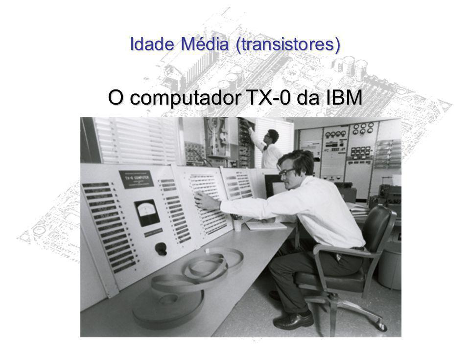 Idade Média (transistores) O computador TX-0 da IBM