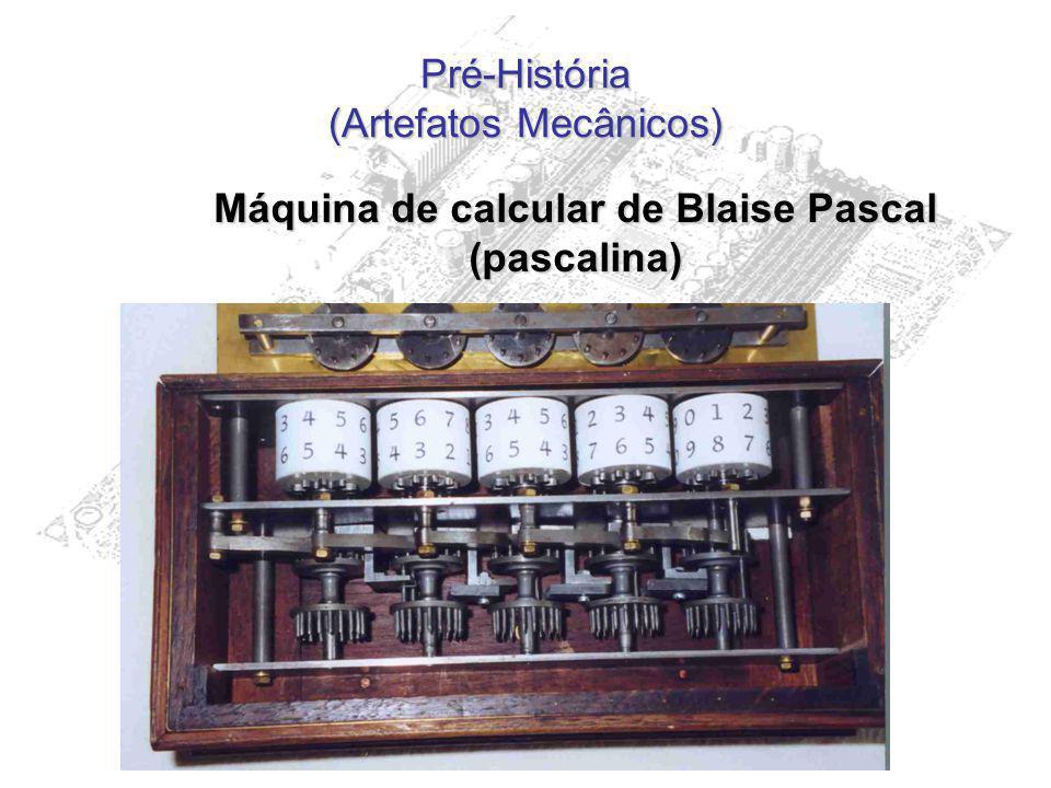 Pré-História (Artefatos Mecânicos) Máquina de calcular de Blaise Pascal (pascalina)