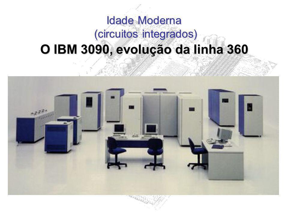 Idade Moderna (circuitos integrados) O IBM 3090, evolução da linha 360