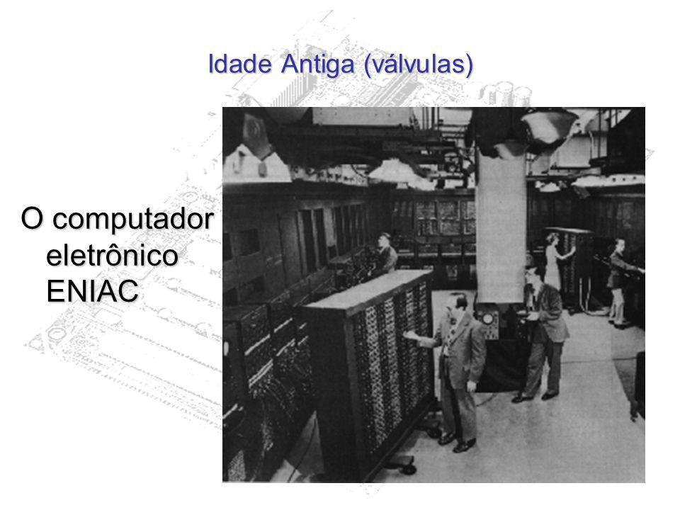 Idade Antiga (válvulas) O computador eletrônico ENIAC