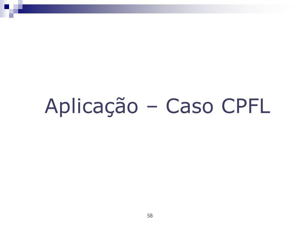 Aplicação – Caso CPFL 58