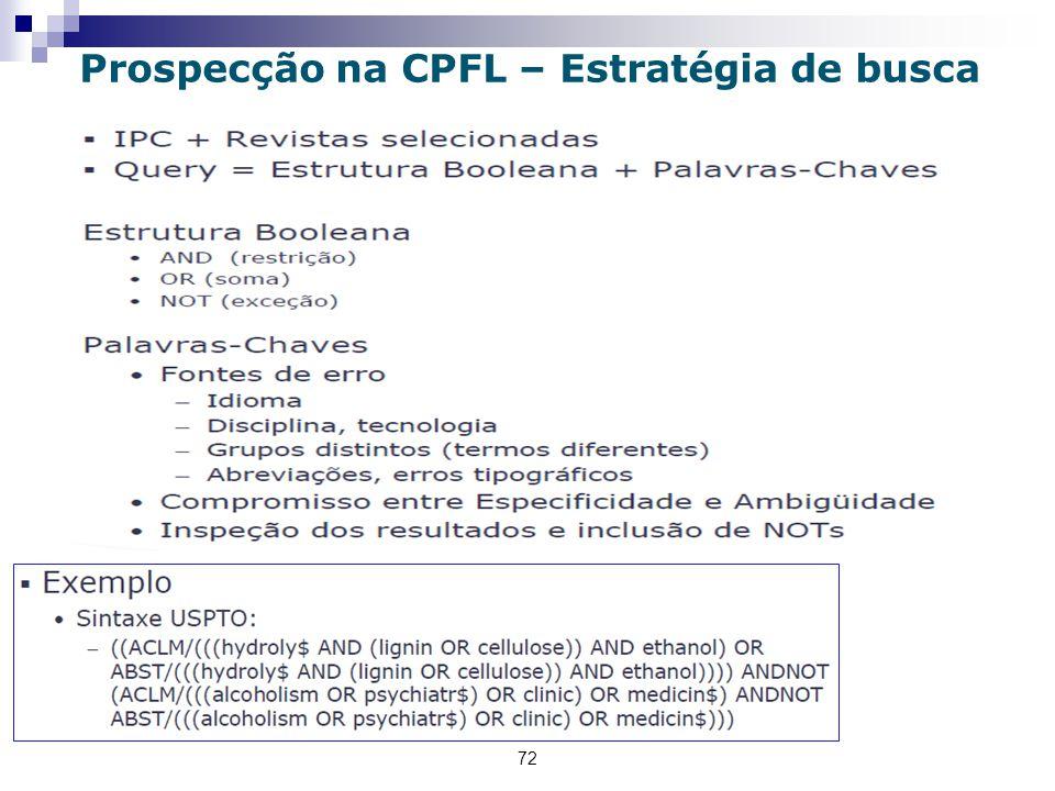 72 Prospecção na CPFL – Estratégia de busca