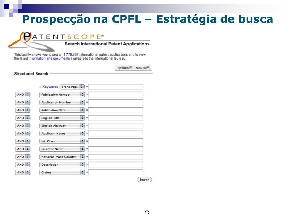 73 Prospecção na CPFL – Estratégia de busca