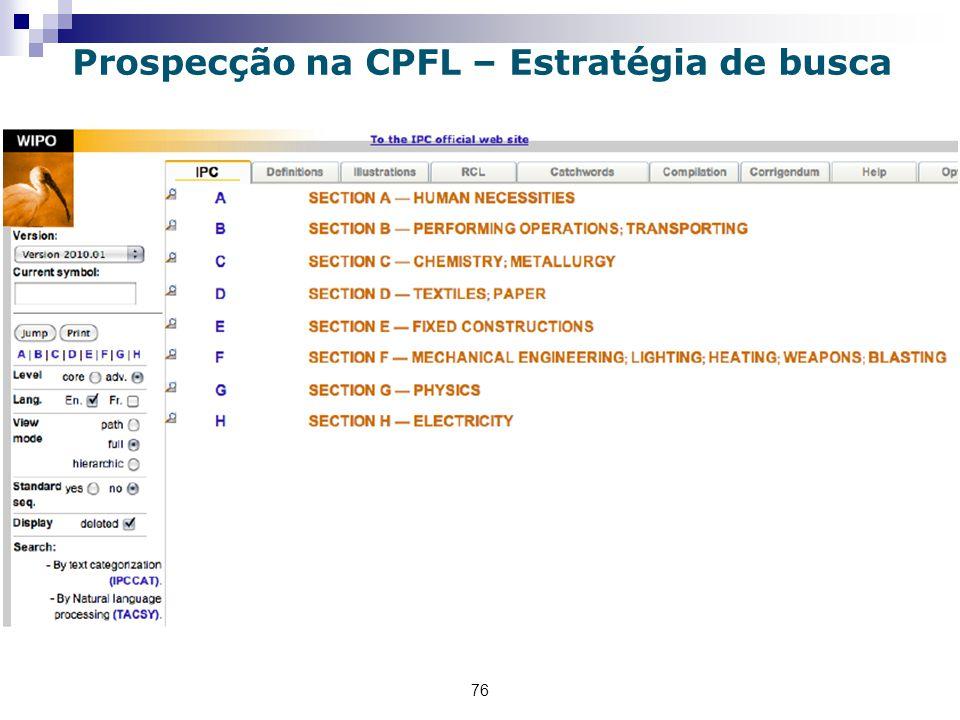 76 Prospecção na CPFL – Estratégia de busca