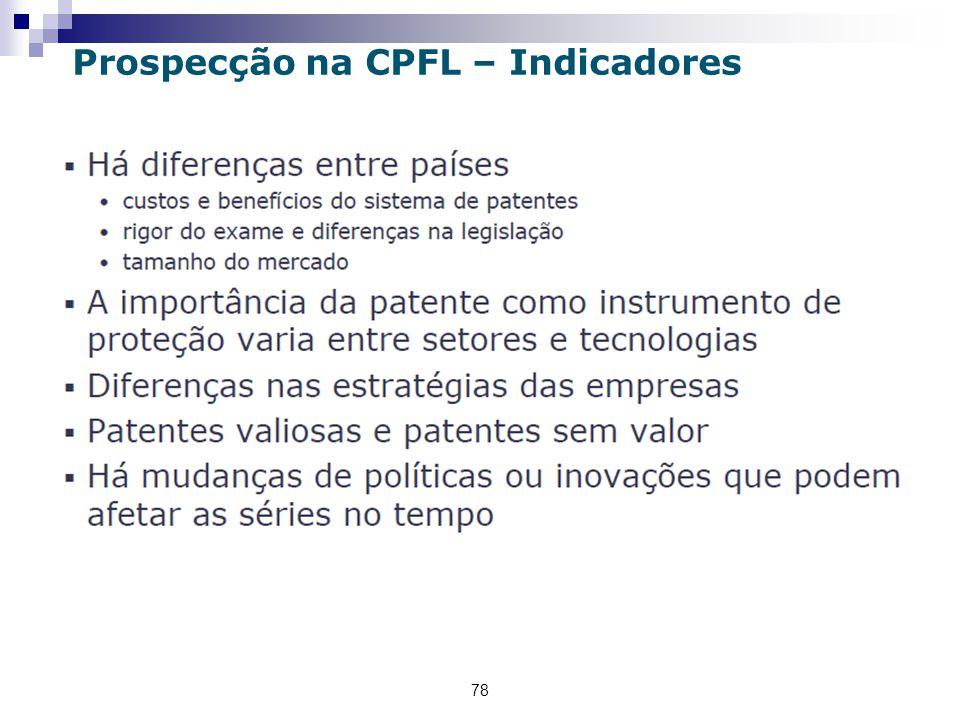 78 Prospecção na CPFL – Indicadores