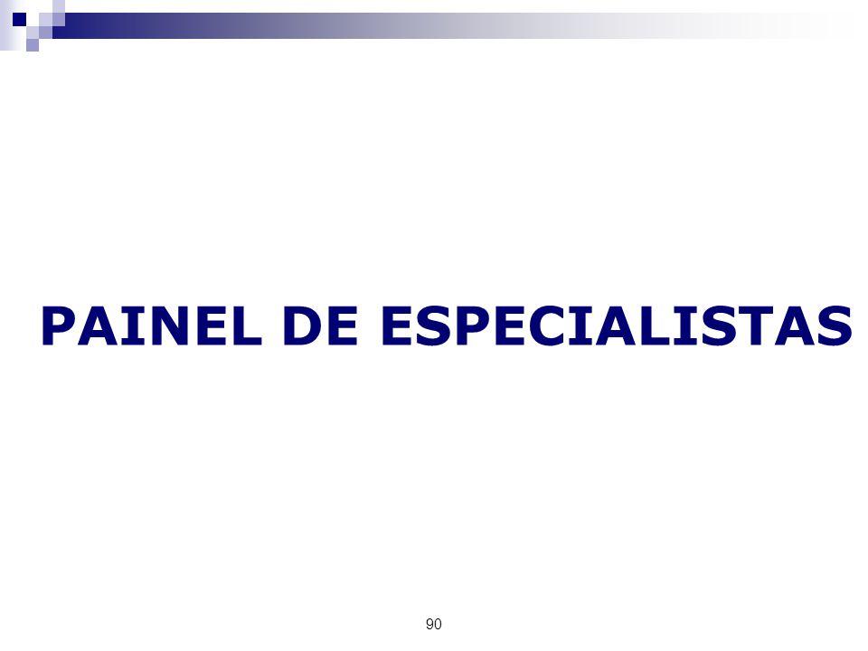 90 PAINEL DE ESPECIALISTAS