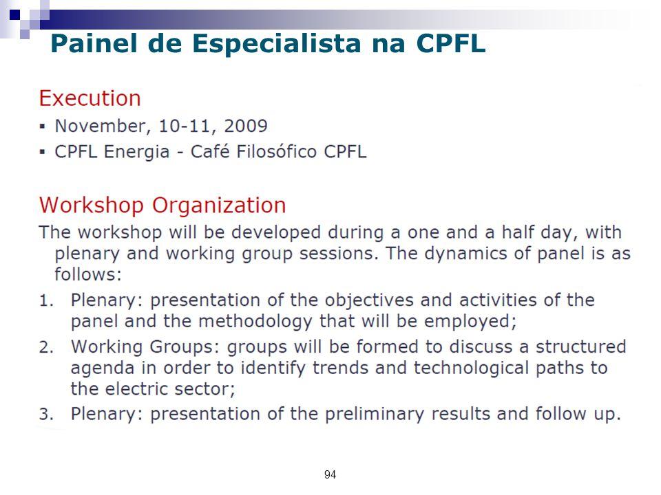 94 Painel de Especialista na CPFL