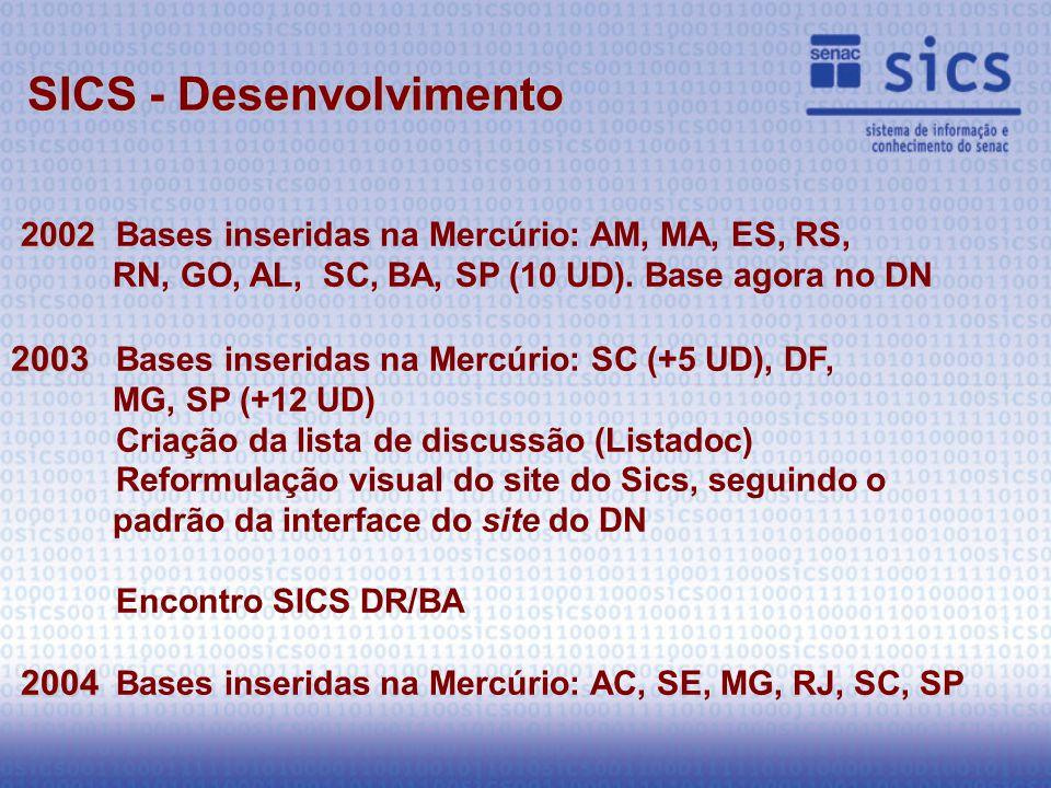 2002 2002Bases inseridas na Mercúrio: AM, MA, ES, RS, RN, GO, AL, SC, BA, SP (10 UD).