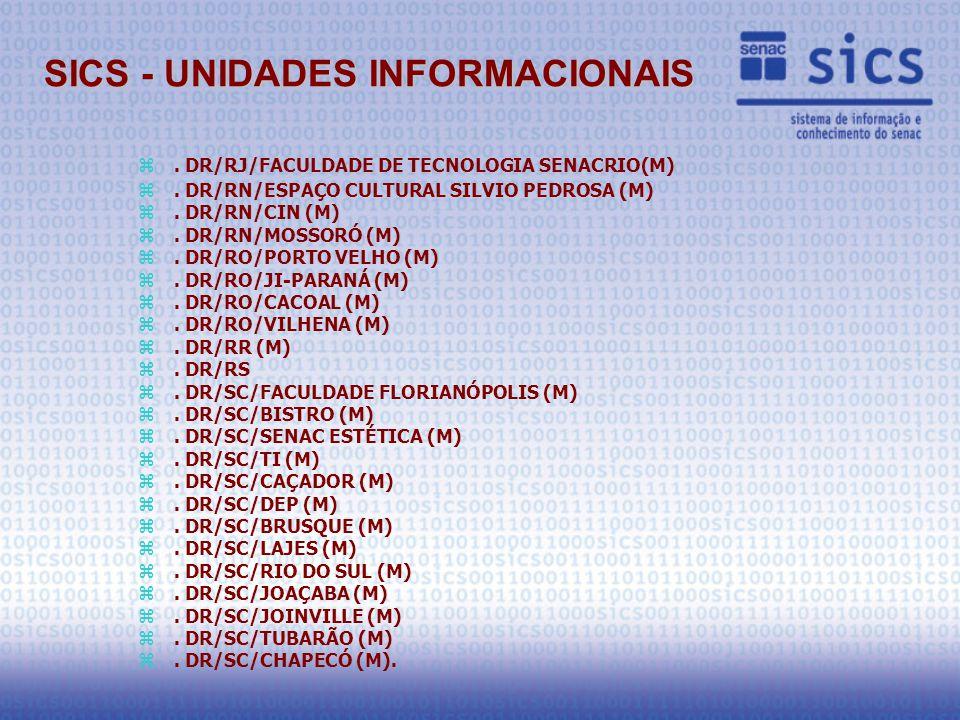 z. DR/RJ/FACULDADE DE TECNOLOGIA SENACRIO(M) z. DR/RN/ESPAÇO CULTURAL SILVIO PEDROSA (M) z.