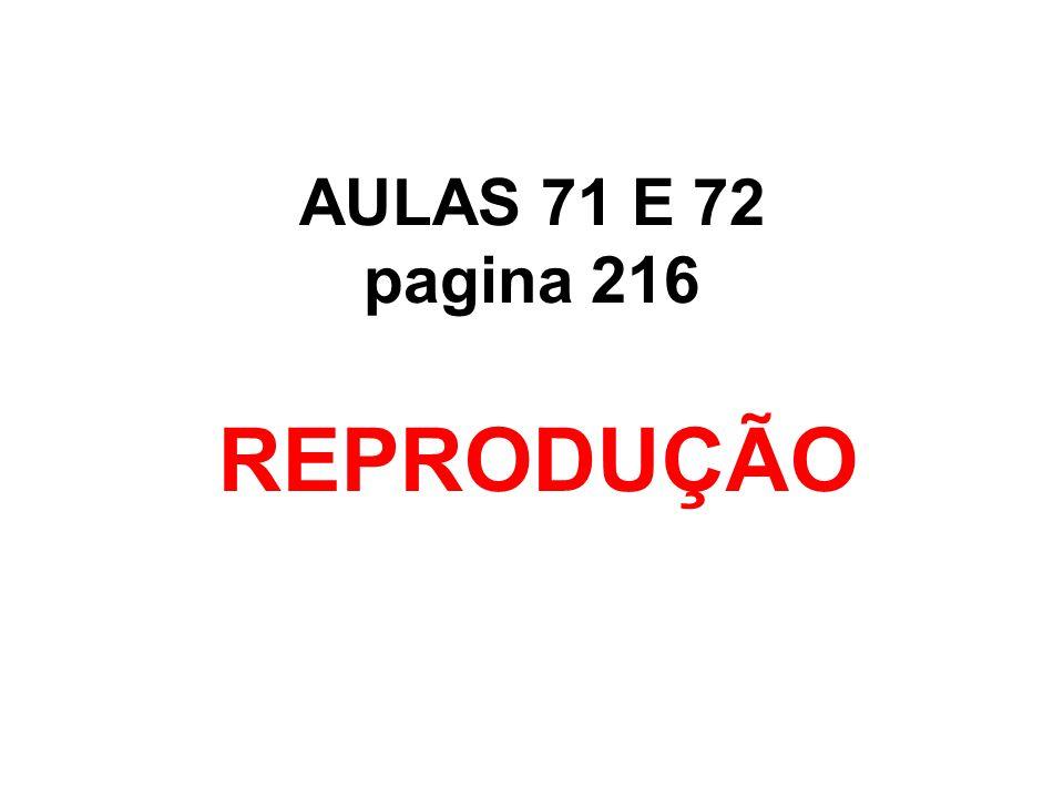 AULAS 71 E 72 pagina 216 REPRODUÇÃO