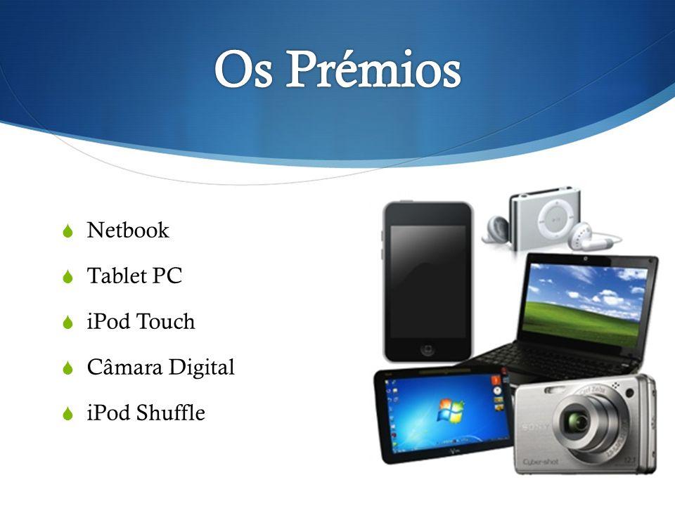 Netbook Tablet PC iPod Touch Câmara Digital iPod Shuffle
