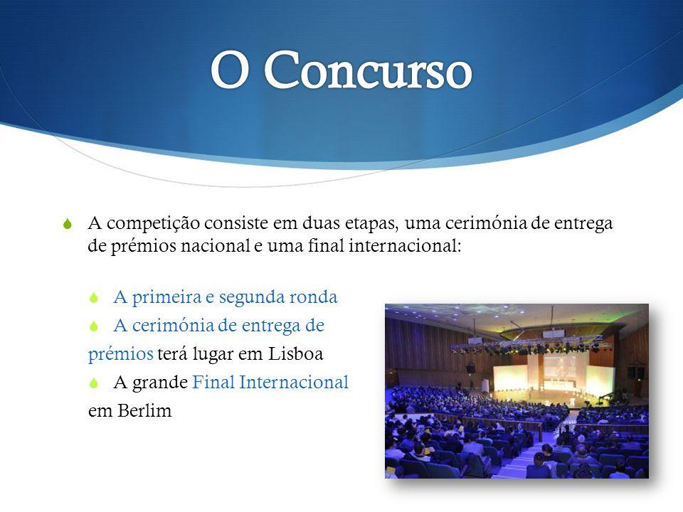 A competição consiste em duas etapas, uma cerimónia de entrega de prémios nacional e uma final internacional: A primeira e segunda ronda A cerimónia de entrega de prémios terá lugar em Lisboa A grande Final Internacional em Berlim