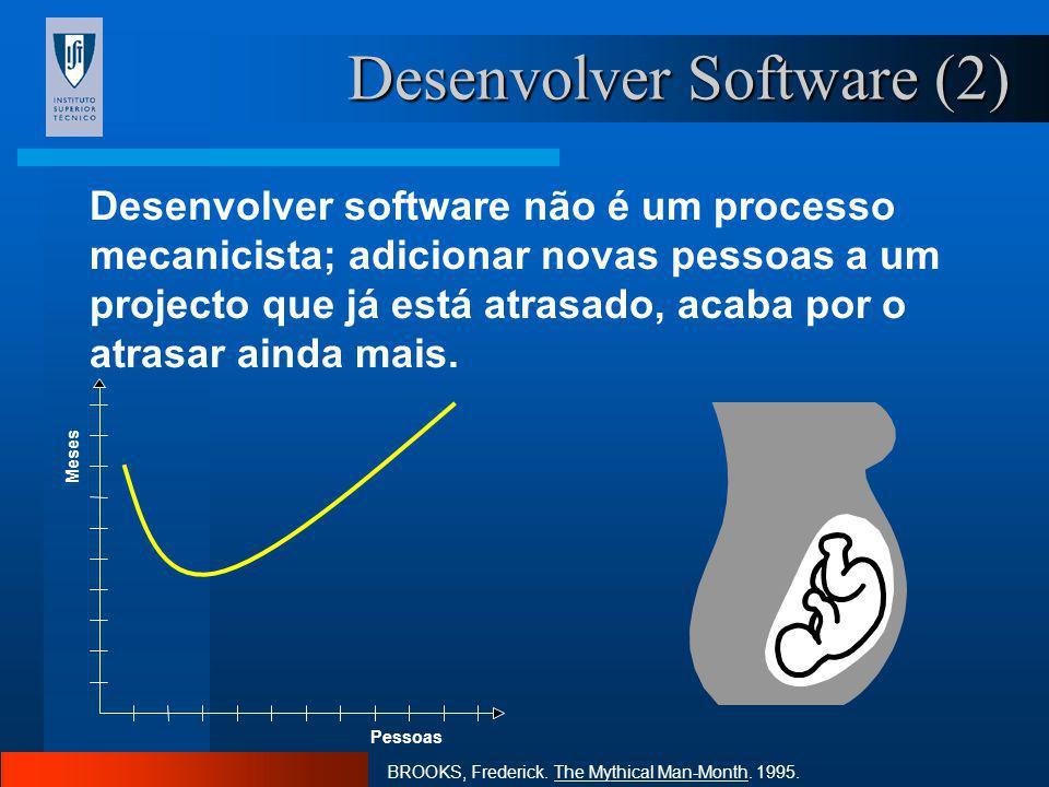 Desenvolver Software (1) É extremamente difícil entregar software de boa qualidade dentro dos prazos previstos. Na maioria das empresas, o trabalho e