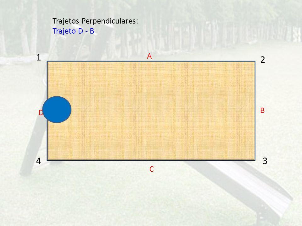 1 2 43 A C D B Trajetos Perpendiculares: Trajeto D - B