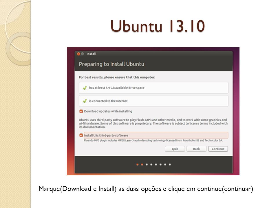 Ubuntu 13.10 1 – Selecione a rede a ser conectada