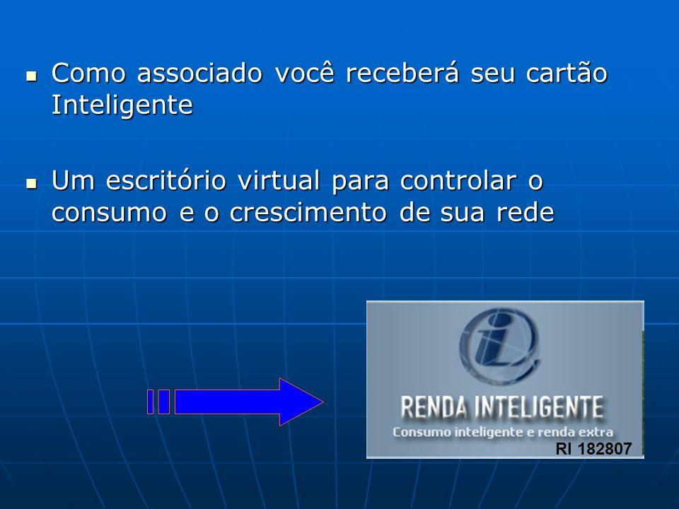 Como associado você receberá seu cartão Inteligente Como associado você receberá seu cartão Inteligente Um escritório virtual para controlar o consumo