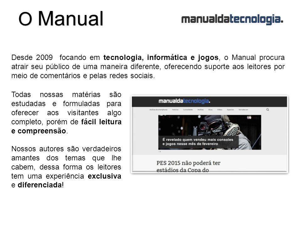 Desde 2009 focando em tecnologia, informática e jogos, o Manual procura atrair seu público de uma maneira diferente, oferecendo suporte aos leitores por meio de comentários e pelas redes sociais.