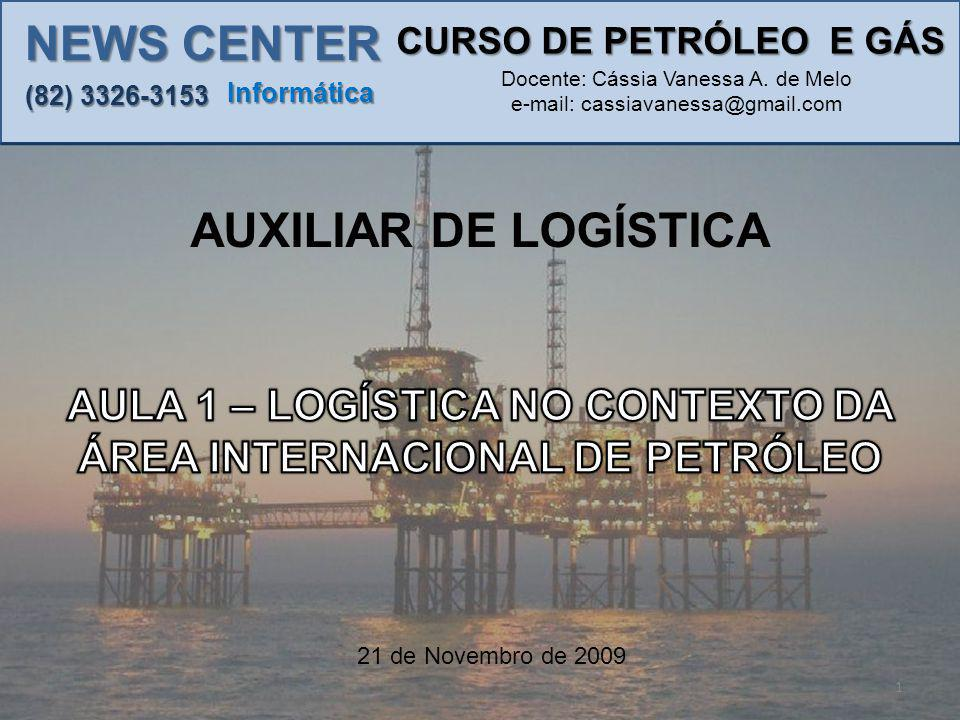AULA 1 – LOGÍSTICA NO CONTEXTO DA ÁREA INTERNACIONAL DE PETRÓLEO PRODUTORES DE PETRÓLEO.