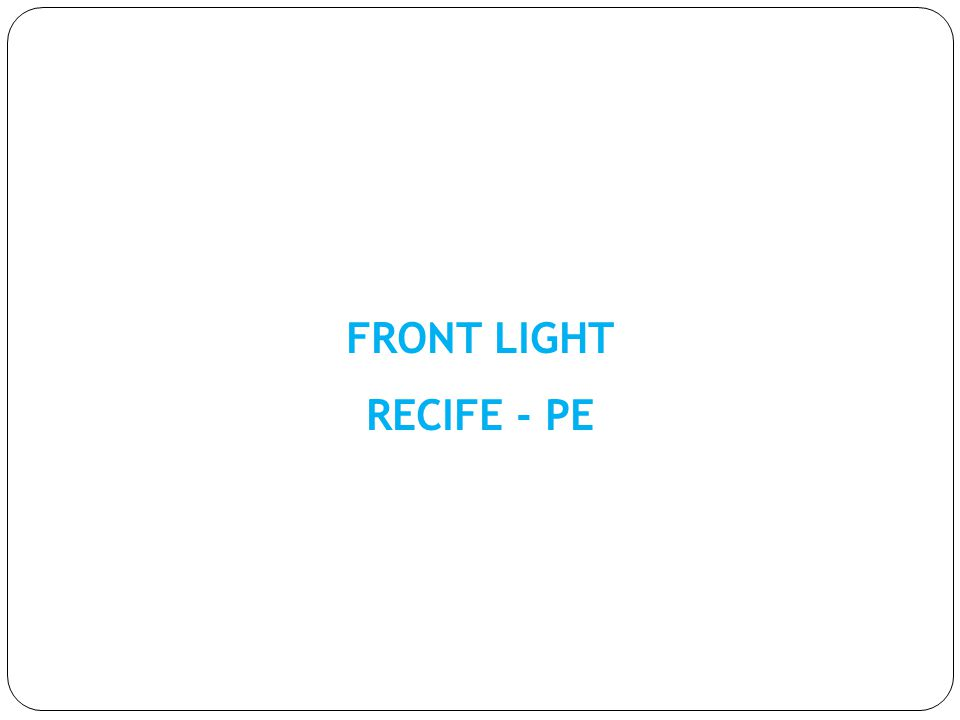 FRONT LIGHT RECIFE - PE