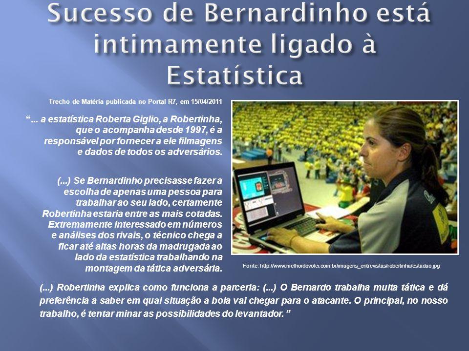 Trecho de Matéria publicada no Portal R7, em 15/04/2011...