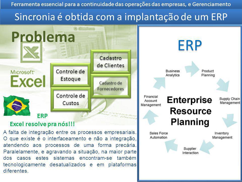 Controle de Estoque Controle de Custos Cadastro de Clientes Cadastro de Fornecedores Ferramenta essencial para a continuidade das operações das empres