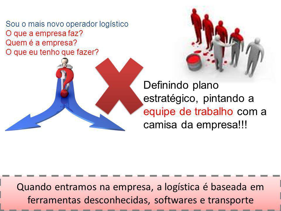 Quando entramos na empresa, a logística é baseada em ferramentas desconhecidas, softwares e transporte Sou o mais novo operador logístico O que a empr