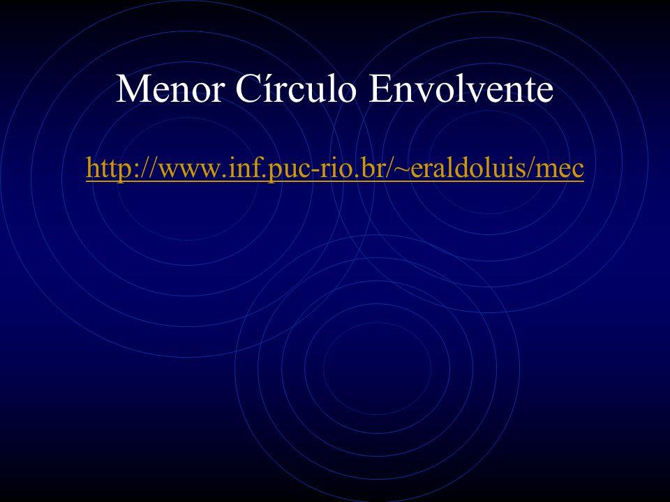 Menor Círculo Envolvente http://www.inf.puc-rio.br/~eraldoluis/mec