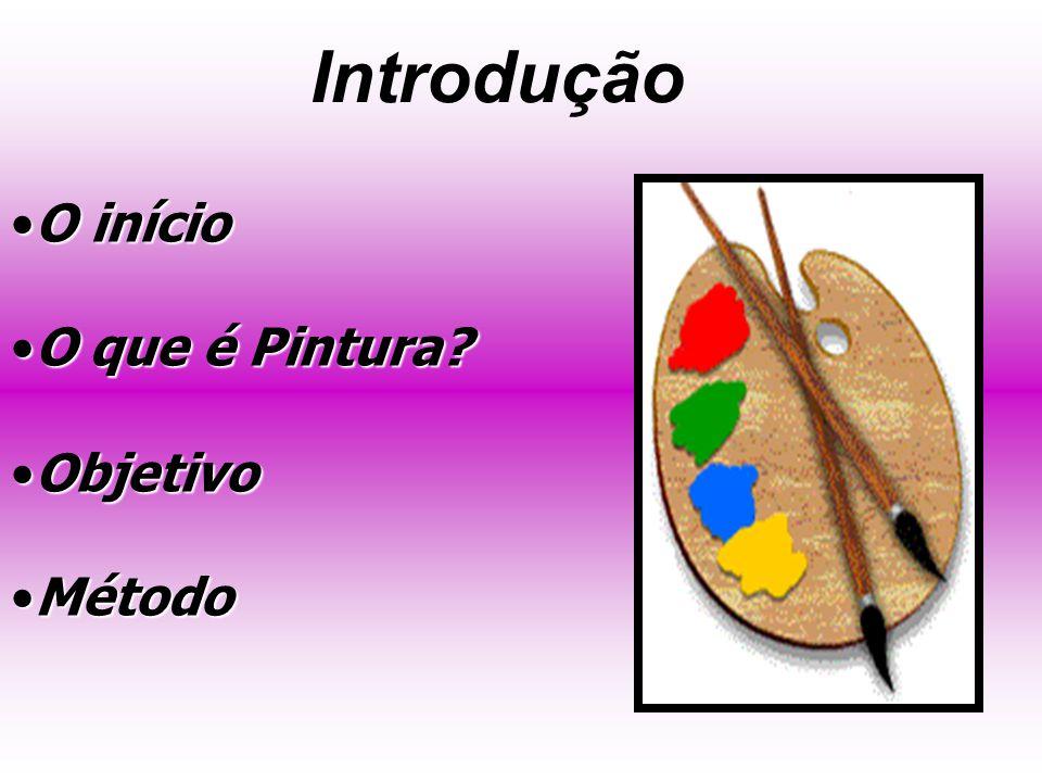 Introdução O inícioO início Oque é Pintura?O que é Pintura? ObjetivoObjetivo MétodoMétodo