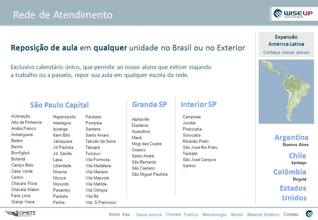 Quem somosPublicoMetodologiaMaterial Didático Início FimNíveis ContatoClientes Rede de Atendimento São Paulo Capital Aclimação Alto de Pinheiros Análi