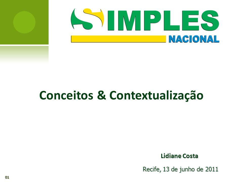 Conceitos & Contextualização Recife, 13 de junho de 2011 01 Lidiane Costa