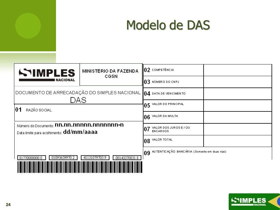 Modelo de DAS 24
