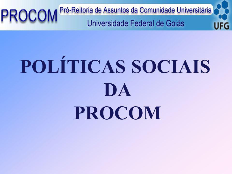 Pró-Reitor Júlio César Prates Email: julioprates@.ufg.br Site: www.procom.ufg.br Coordenadores Diretor Administrativo Prof.