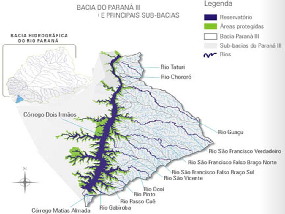 Localização e sub-bacias: Bacia do Paraná possui localização geográfica privilegiada, situada na parte central do Planalto Meridional brasileiro. O ri