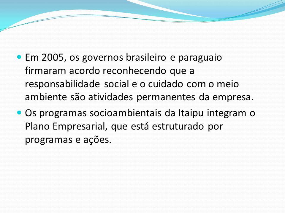 Itaipu, economia e parcerias. A bacia do Rio Paraná, que abastece o reservatório da Itaipu Binacional, abrange seis Estados brasileiros e o Distrito F