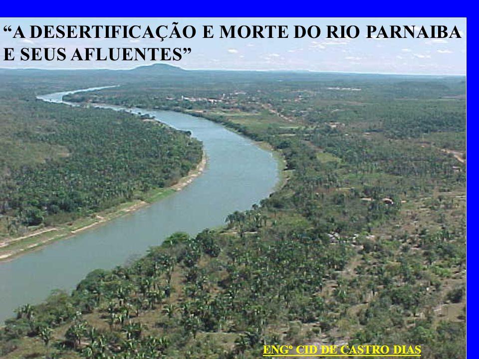 Maranhão A DESERTIFICAÇÃO E MORTE DO RIO PARNAIBA E SEUS AFLUENTES ENGº CID DE CASTRO DIAS