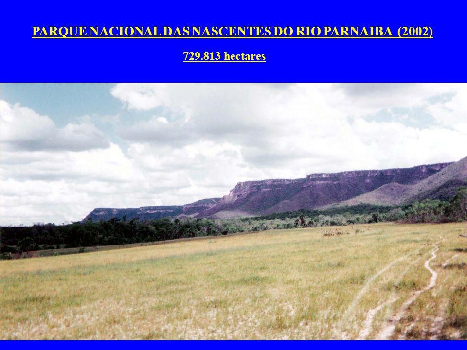 PARQUE NACIONAL DAS NASCENTES DO RIO PARNAIBA (2002) 729.813 hectares