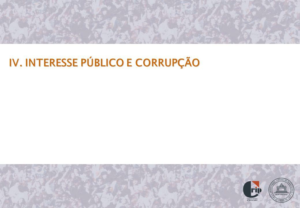 IV. INTERESSE PÚBLICO E CORRUPÇÃO