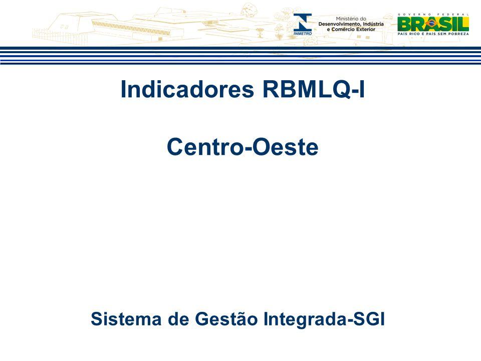 Indicadores RBMLQ-I Centro-Oeste Sistema de Gestão Integrada-SGI