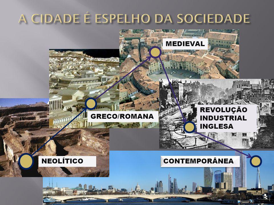 NEOLÍTICO GRECO/ROMANA MEDIEVAL REVOLUÇÃO INDUSTRIAL INGLESA CONTEMPORÂNEA