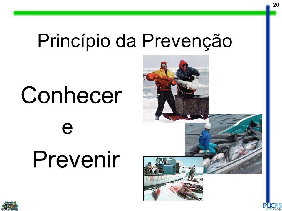 20 Princípio da Prevenção Conhecer e Prevenir