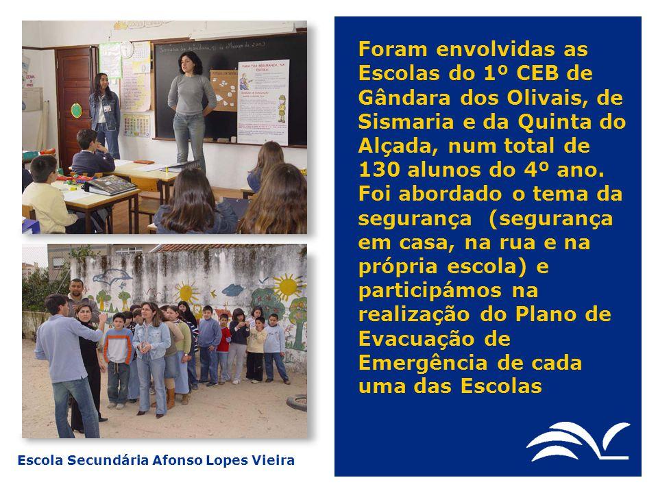 Escola Secundária Afonso Lopes Vieira Foram envolvidas as Escolas do 1º CEB de Gândara dos Olivais, de Sismaria e da Quinta do Alçada, num total de 13