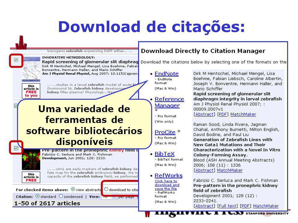 Download de citações: Uma variedade de ferramentas de software bibliotecários disponíveis