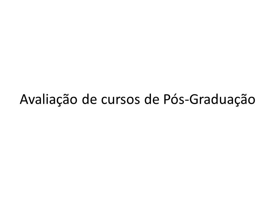 Avaliação de cursos de Pós-Graduação
