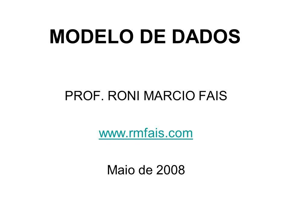 MODELO DE DADOS PROF. RONI MARCIO FAIS www.rmfais.com Maio de 2008