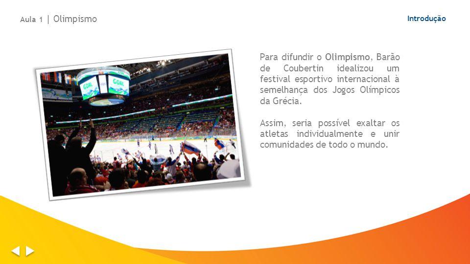Introdução Para difundir o Olimpismo, Barão de Coubertin idealizou um festival esportivo internacional à semelhança dos Jogos Olímpicos da Grécia. Ass